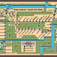 Vancouver Skytrain Map Art Prints & Posters by Dave Delisle