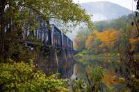 Train Trestle in Autumn