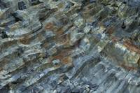 basalt wall close up as background