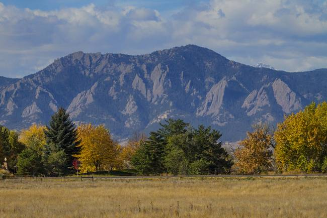 Boulder Colorado Autumn Flatiron Afternoon