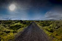Dirt Road and Mossy Lava, Southern Iceland