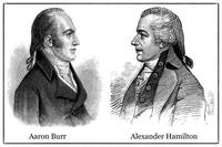 Aaron Burr and Alexander Hamilton