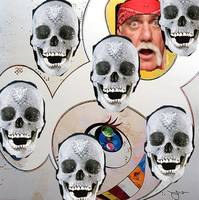 murakami and hulk hogan skulls