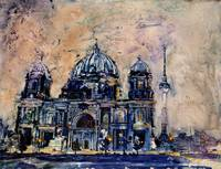Watercolor painting of Cathedral- Berlina, Germany