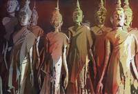 Watercolor painting of Buddha statues- Laos