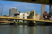 Pittsburgh Skyline and Bridges 2001