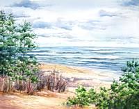 North Pier Beach by KIM KLOECKER
