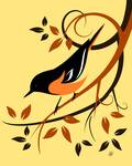Stylized Baltimore Oriole by Pixel Paint Studio