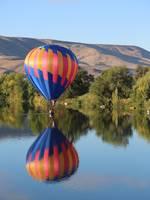 Balloon Gliding on the Yakima River by Carol Groenen