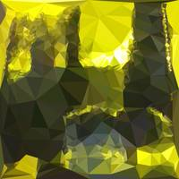 Electric Lime Yellow Abstract Low Polygon Backgrou