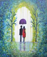 Summer Romance abstract landscape excellent gift