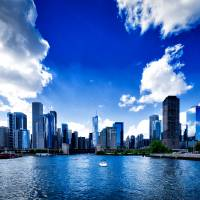Chicago skyline II Art Prints & Posters by Anna Yanev