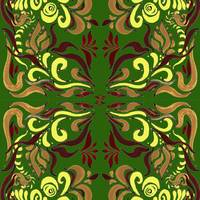 Whimsical Organic Pattern In Green And Yellow II