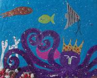 Snow Paintings: Oceanarium, The Purple Octopus
