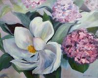 Magnolia and Hydrangeas