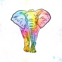 Elephant | Rainbow Series | Pop Art