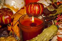 Harvest Time Centerpiece With Candle (1 of 1)