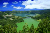Lakes in Azores islands