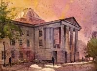 Watercolor painting of State Capital- Raleigh, NC