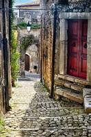 Narrow Cobblestone Street of Sermoneta
