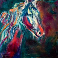 Horse in color Art Prints & Posters by Beth Wold