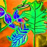 Bright Falling Leaves by Karen Adams