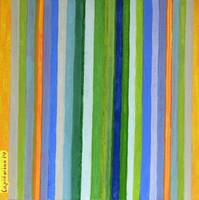 Vibrant Stripes in Orange Green and Blue