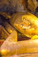 smiling buddha in temple