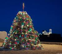 Maine Lobsta Trap Nubble Christmas