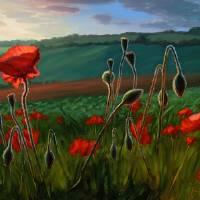 """Poppies Dancing"" by soniakane"