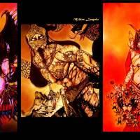 Kitana Angel Of Death Art Prints & Posters by Midas Langelo