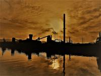 Industrial sunset (Seraing)