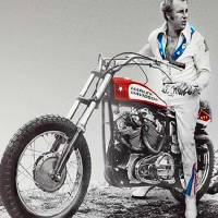 Evel Knievel Painting Spot Color Large Art Prints & Posters by Tony Rubino