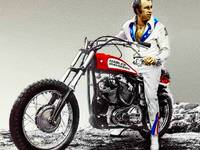 Evel Knievel Painting Full Color Large