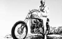 Evel Knievel Painting Black And White
