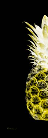 14NL Artistic Glowing Pineapple Digital Art Yellow