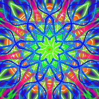 Mandala Green And Blue
