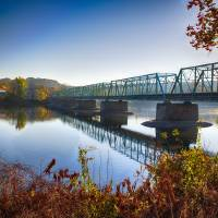 """""""Autumn Morning View Of The New Hope Lambertville B"""" by George_Oze"""