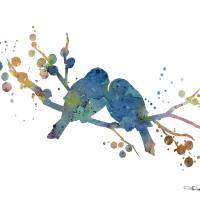 """Love Birds"" by k9artgallery"