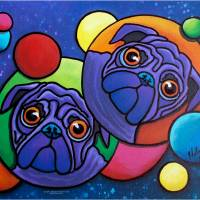 Space Pugs Art Prints & Posters by Anna Holmes