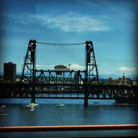 Steel Bridge, Willamette, Portland, OR