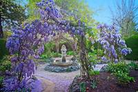 Fountain in the Wisteria Garden