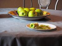 Still Life with Apples and Chair