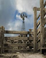 Western Windmill and corral