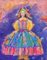 Polish Folk Art Woman Traditional Folklore Dress