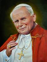 Pope John Paul II Catholic Saints Portrait Poland