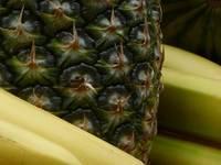 Bananas and Pineapple Still Life