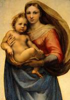 Sistine Madonna and Child Virgin Mary Painting