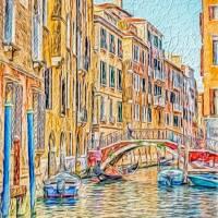 Venice canal Art Prints & Posters by Susan Leonard