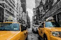 Impressionist of yellow-cabs-in-new-york city
